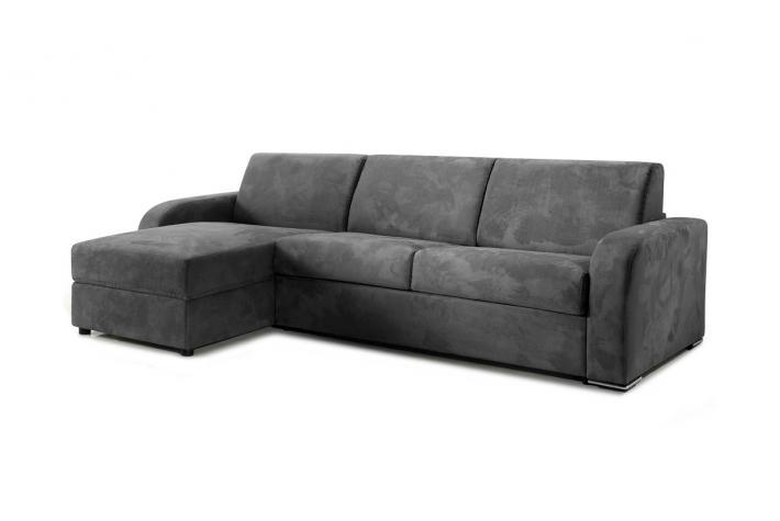 canap d 39 angle convertible en microfibre cezano design sur sofactory. Black Bedroom Furniture Sets. Home Design Ideas