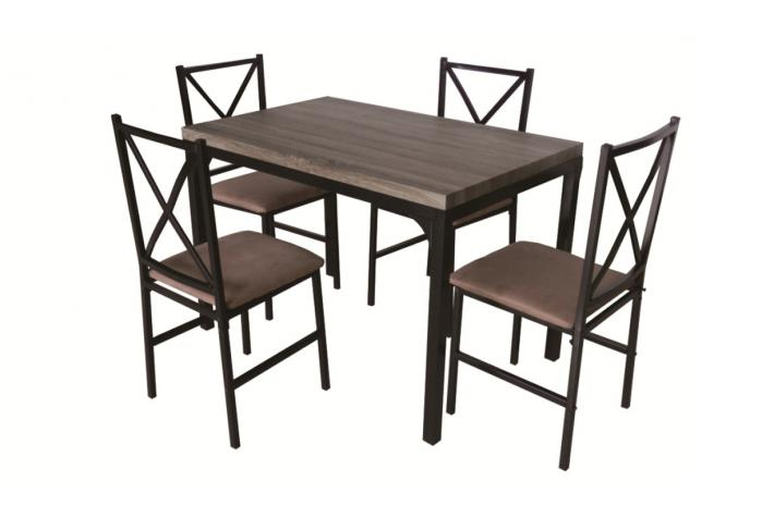 Set table 4 chaises fabian design pas cher sur sofactory for Ensemble table 6 chaises pas cher