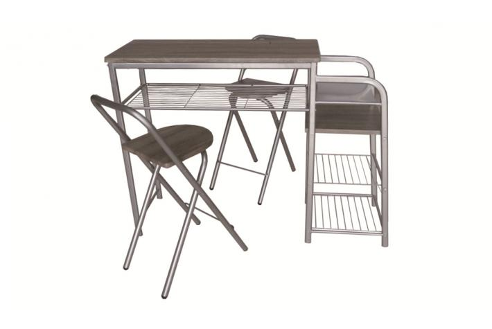Table de bar haute et 2 chaises pliantes tender design pas for Ensemble table 6 chaises pas cher