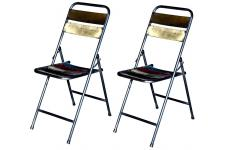 Lot de 2 chaises pliantes en métal FOLDING