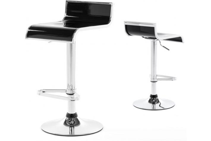 Lot de 2 tabourets de bar OLLIE Noir
