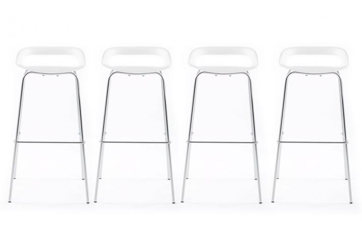 Lot de 4 tabourets de bar famous blanc design en direct de - Tabouret de bar noir pas cher ...
