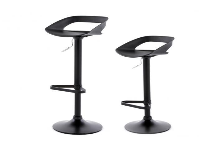 Lot de 2 tabourets de bar reva noir design pas cher sur - Lot de 2 tabouret de bar pas cher ...