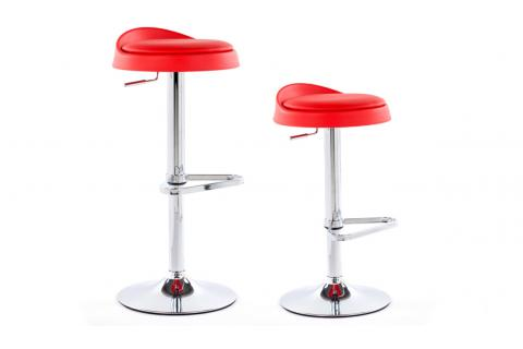 Lot de 2 tabourets de bar ELLI Rouge