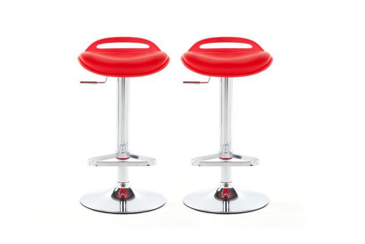 Lot de 2 tabourets de bar satellite rouge design pas cher - Tabouret de bar rouge pas cher ...