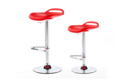 Lot de 2 tabourets de bar SATELLITE Rouge