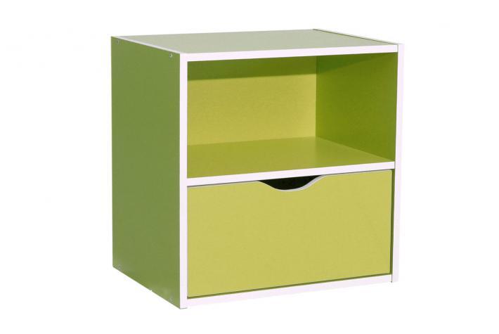 Bloc de rangement 1 niche et 1 tiroir kristof vert anis design en direct de l - Bloc de rangement ikea ...