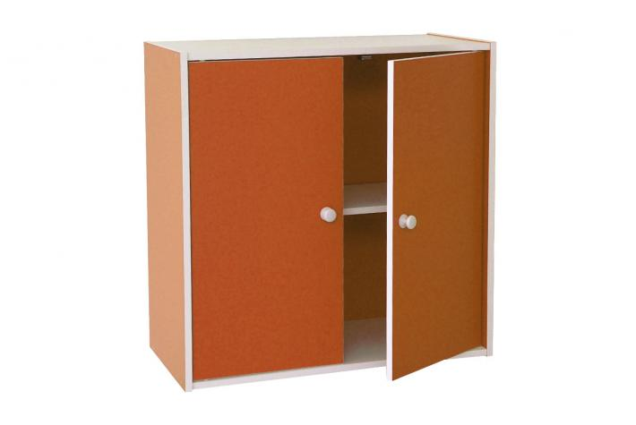 bloc de rangement 2 portes emmett orange design pas cher sur sofactory. Black Bedroom Furniture Sets. Home Design Ideas