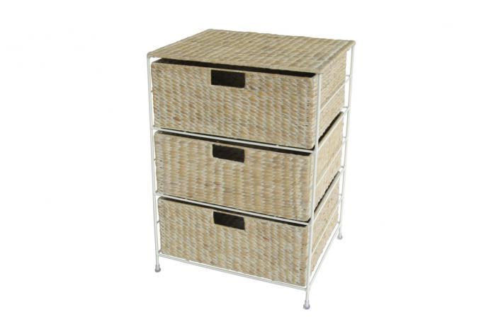 commode 3 tiroirs en osier bamba design pas cher sur sofactory. Black Bedroom Furniture Sets. Home Design Ideas