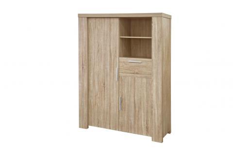 bahut 2 portes 1 tiroir limbourg design pas cher sur sofactory. Black Bedroom Furniture Sets. Home Design Ideas