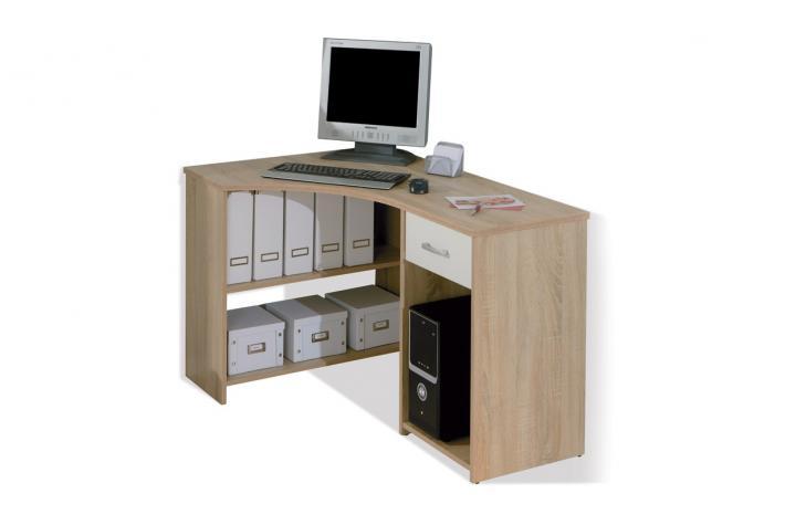 Bureau d 39 angle 1 tiroir caprera design pas cher sur sofactory - Bureau d angle avec tiroir ...