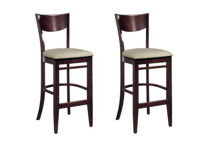 Lot De 2 Tabourets De Bar En Bois Bonnie Design Sur Sofactory