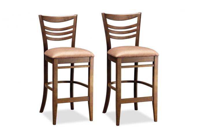 lot de 2 tabourets de bar en bois marcie design pas cher sur sofactory. Black Bedroom Furniture Sets. Home Design Ideas