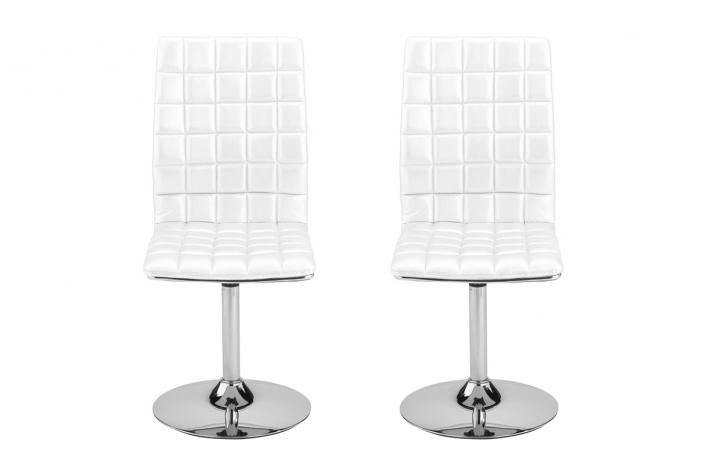 Lot de 2 chaises pivotantes ASHLEY Blanc