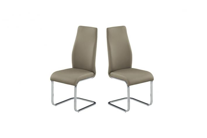 Lot de 2 chaises ANNABELLE Taupe