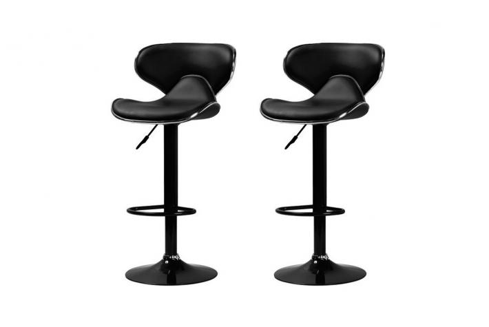 lot de 2 tabourets de bar new cab noir design sur sofactory. Black Bedroom Furniture Sets. Home Design Ideas