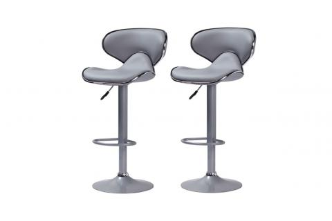 Lot de 2 tabourets de bar NEW CAB Gris