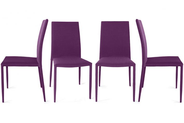Lot de 4 chaises LILOO Violet