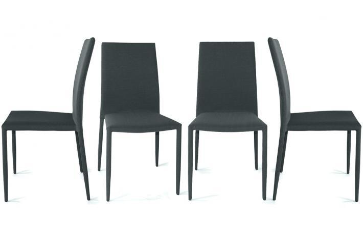 lot de 4 chaises liloo gris fonc design pas cher sur sofactory. Black Bedroom Furniture Sets. Home Design Ideas