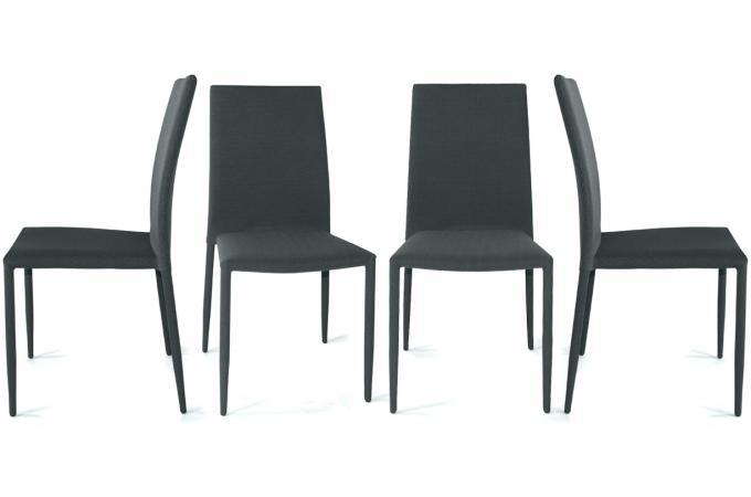 Chaise de cuisine grise chaise cuisine metal gris 40 lot for Lot de 6 chaises conforama