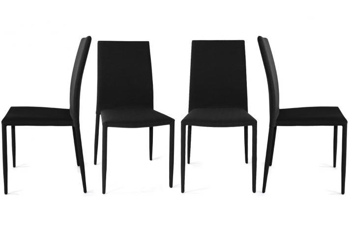 lot de 4 chaises liloo noir design pas cher sur sofactory. Black Bedroom Furniture Sets. Home Design Ideas