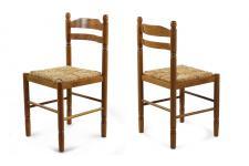 Lot de 2 chaises en bois JEANNE