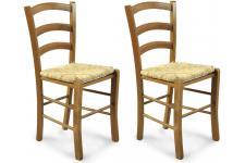 Lot de 2 chaises en bois PAYSANNE