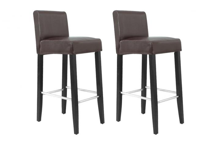 lot de 2 tabourets de bar bell chocolat design sur sofactory. Black Bedroom Furniture Sets. Home Design Ideas