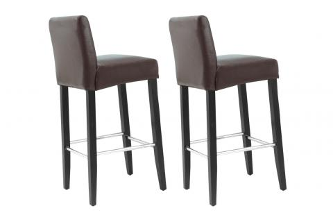 Tabouret de bar Simili Cuir Marron GO102624-0000