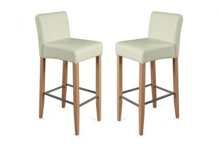 lot de 2 tabourets de bar bell beige design sur sofactory. Black Bedroom Furniture Sets. Home Design Ideas