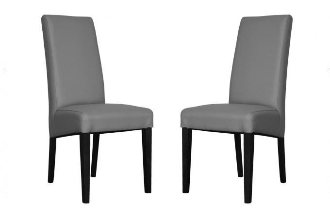 Lot de 2 chaises adria gris design sur sofactory for Chaise sejour grise