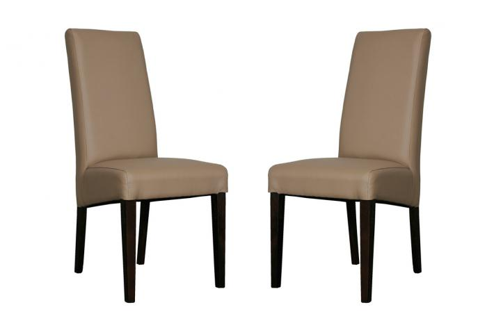 Lot de 2 chaises adria taupe design sur sofactory for Chaise de salon grise
