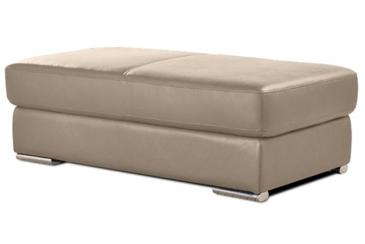 pouf rectangulaire en cuir henri beige design sur sofactory. Black Bedroom Furniture Sets. Home Design Ideas