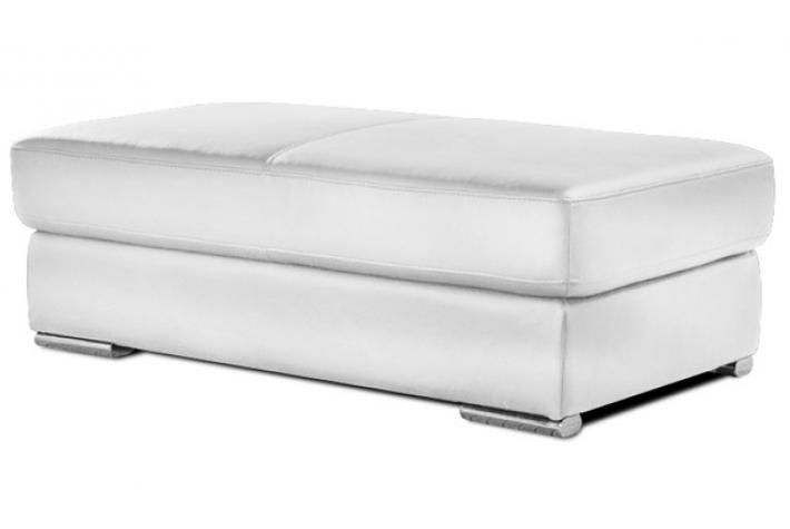 Pouf rectangulaire en cuir henri blanc design pas cher sur sofactory - Pouf rectangulaire cuir ...