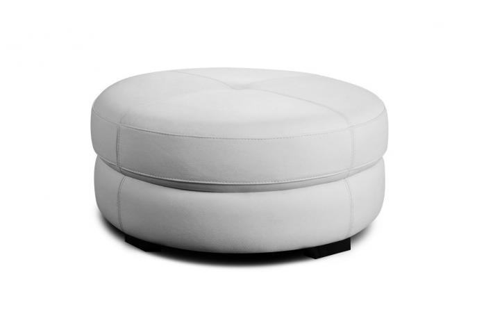 Pouf en cuir PECCI Blanc design sur SoFactory 32ea2cdf3fa