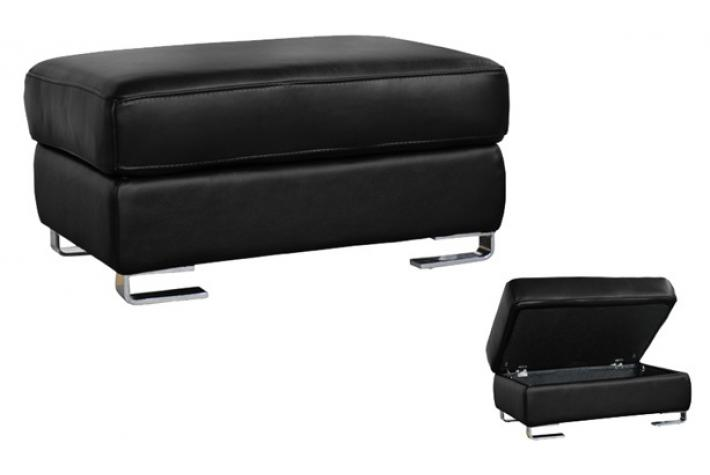 pouf en cuir coffre andy noir design sur sofactory. Black Bedroom Furniture Sets. Home Design Ideas