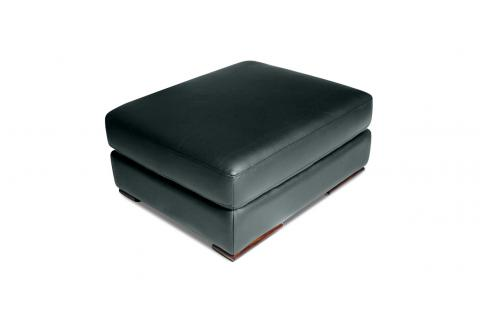 Pouf en cuir AUGUSTO Anthracite SoFactory