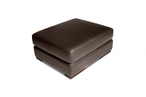 Pouf en cuir AUGUSTO Taupe SoFactory