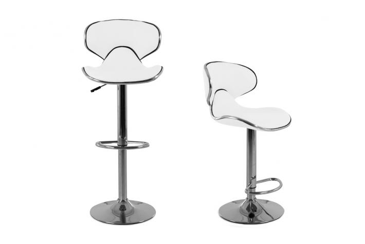 Lot de 2 tabourets de bar CAB Blanc