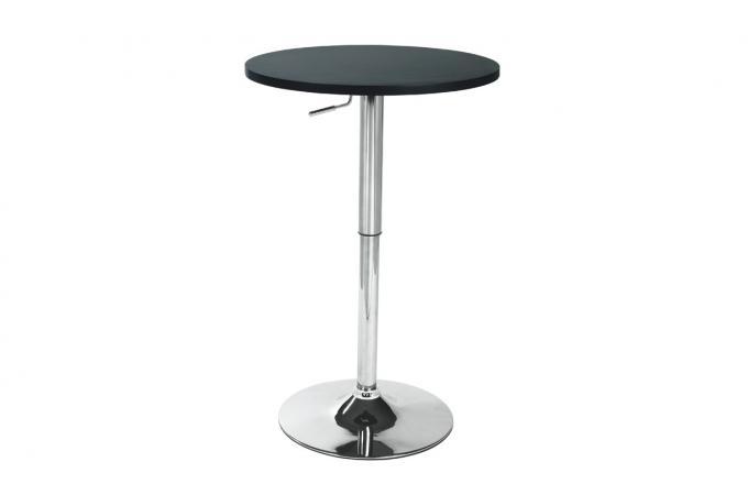 Table Ronde Réglable Plateau Noir D61 UFO design sur SoFactory