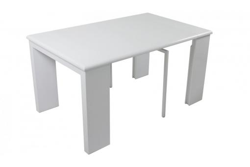 Console extensible blanche 195cm laque CYNTHIA IC102946-0000
