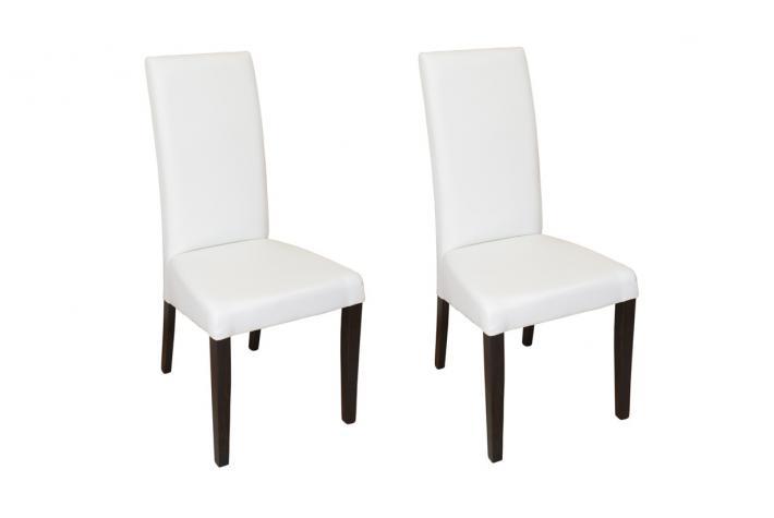 Lot de 2 chaises izaline blanc design pas cher sur sofactory - Lot de chaises design pas cher ...