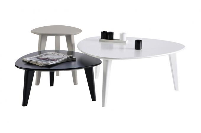 set de 3 tables basses scandinaves stone design sur sofactory. Black Bedroom Furniture Sets. Home Design Ideas