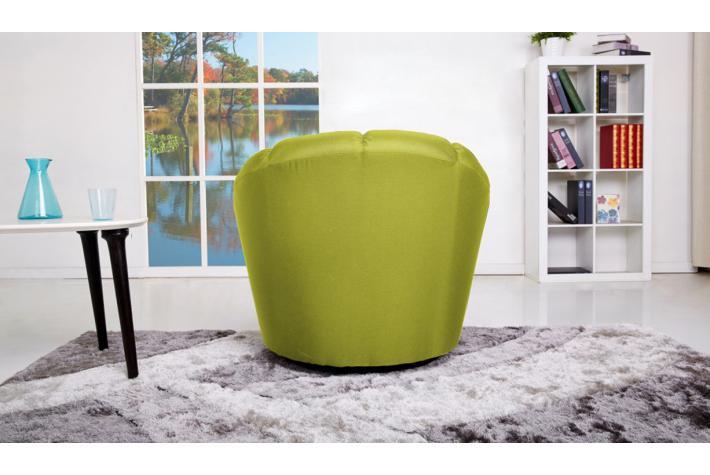 Fauteuil en tissu loon design sur sofactory - Fauteuil cabriolet vert anis ...