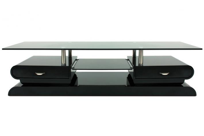 Meuble Tv Maya Laqu Noir Design Sur Sofactory