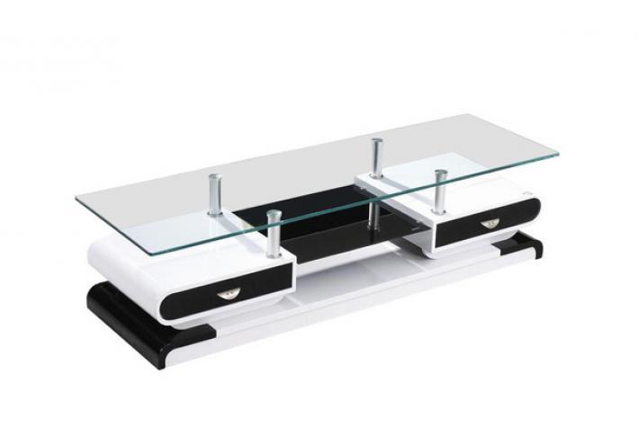 meuble tv maya noir blanc design sur sofactory. Black Bedroom Furniture Sets. Home Design Ideas