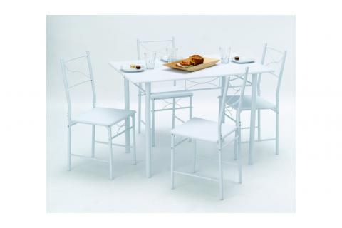 Set table + 4 chaises WHITNEY