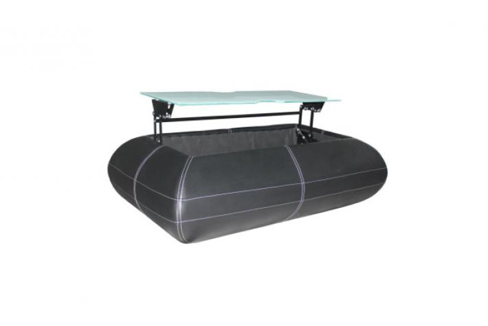 Table basse relevable wally noir blanc design pas cher sur - Table basse noir et blanc pas cher ...