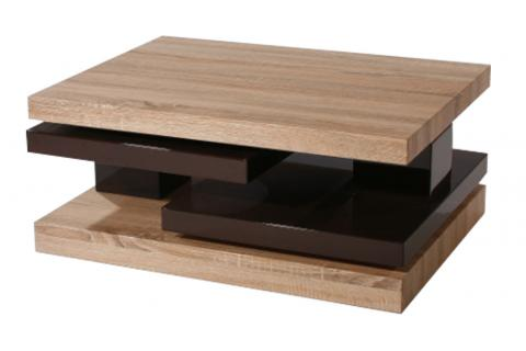 table basse avec 2 plateaux pivotants erwin design pas cher sur sofactory. Black Bedroom Furniture Sets. Home Design Ideas