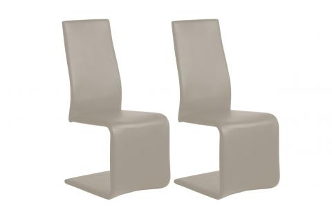 Lot de 2 chaises AUGUSTA Taupe